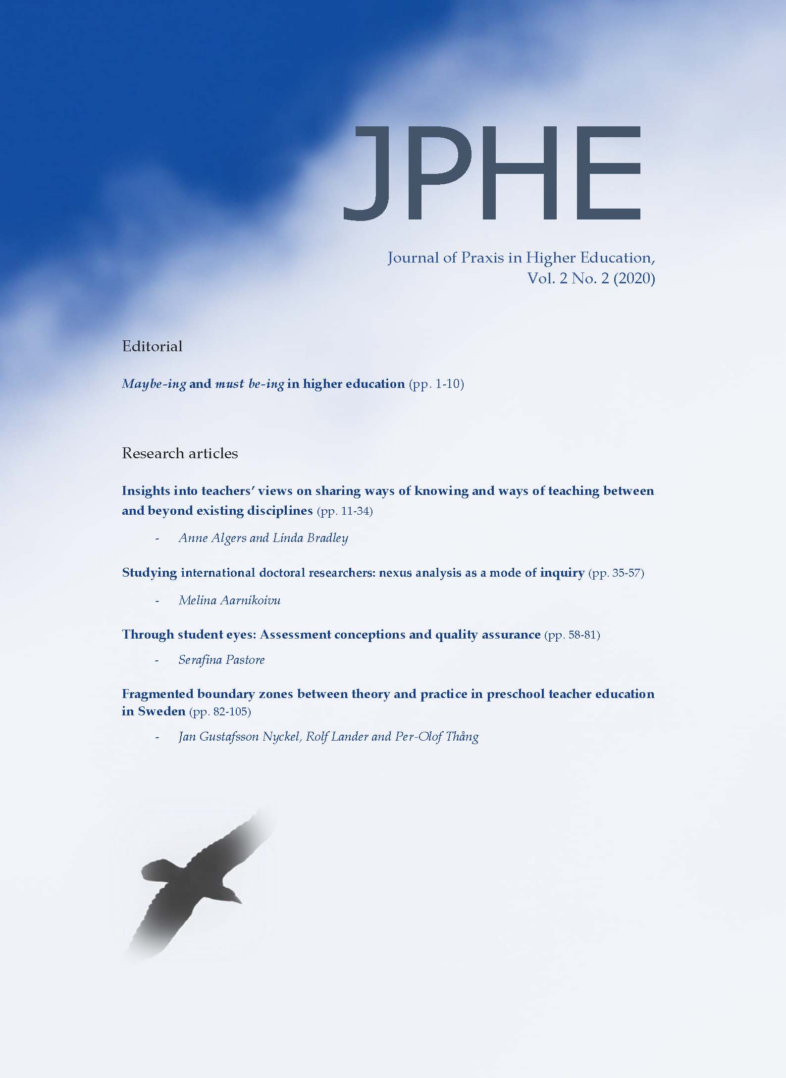 View Vol. 2 No. 2 (2020): Journal of Praxis in Higher Education
